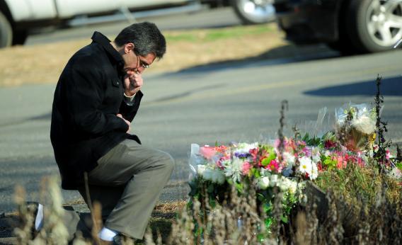 Sandy Hook School Shooting Mourner
