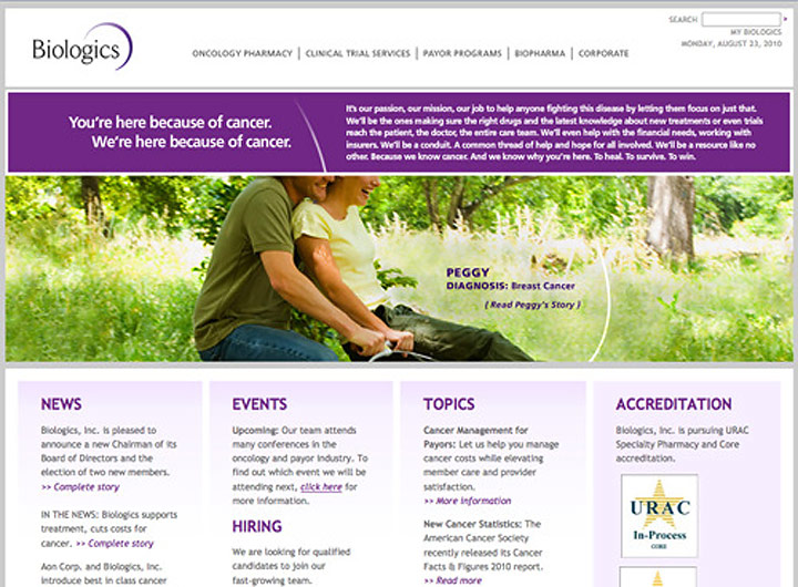 Biologics Website
